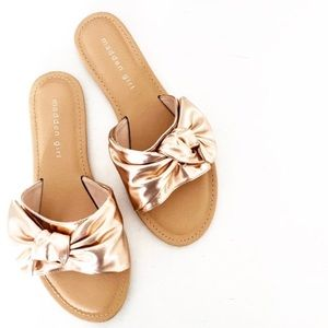 Madden Girl | NEW Justyne Rose Gold Bow Sandals